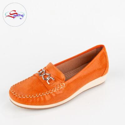 narancssárga cipő